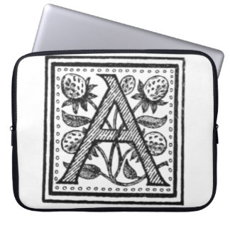 A Initial from A Monk of Fife Computer Sleeves