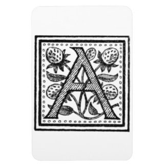 A Initial from A Monk of Fife Rectangle Magnet