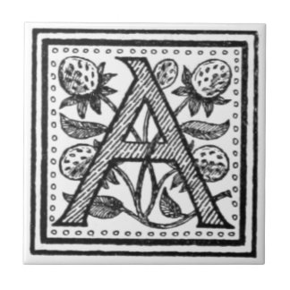 A Initial from A Monk of Fife Ceramic Tiles