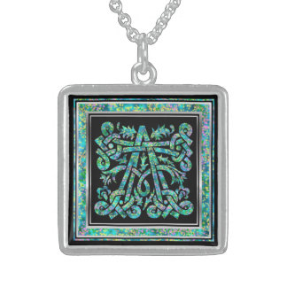A Initial Monogram Masselle Blue Necklace Custom Necklace