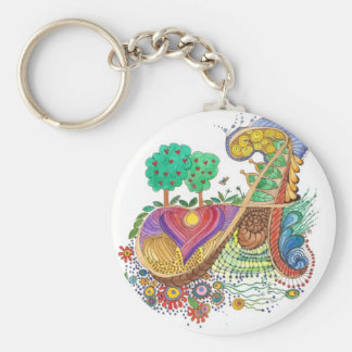 A, initial, monogram, wedding key ring