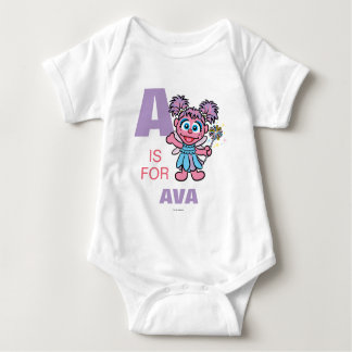 A is for Abby Cadabby | Add Your Name Baby Bodysuit