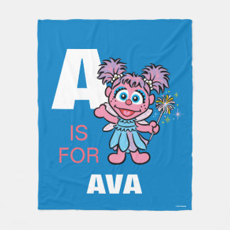 A is for Abby Cadabby | Add Your Name Fleece Blanket