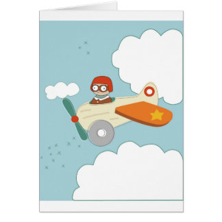 A is for Aeroplane Card