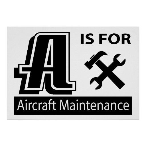 A Is For Aircraft Maintenance Posters