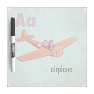 A is for Airplane Dry Erase Board