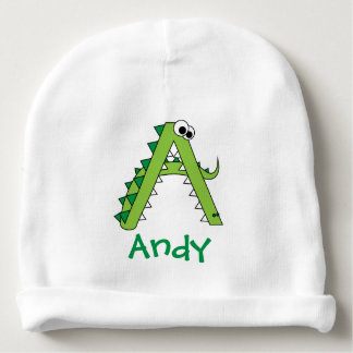 A Is For Alligator Cute Baby Beanie