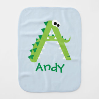 A Is For Alligator Cute Burp Cloth
