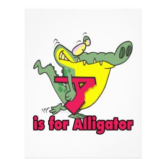 A is for Alligator silly gator letter cartoon Full Color Flyer