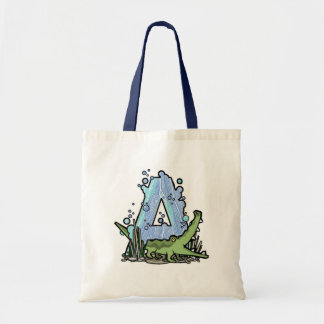 A is for alligator tote bag