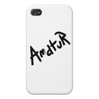 A is for AMATEUR Designs from the I Am A Shop iPhone 4 Cover