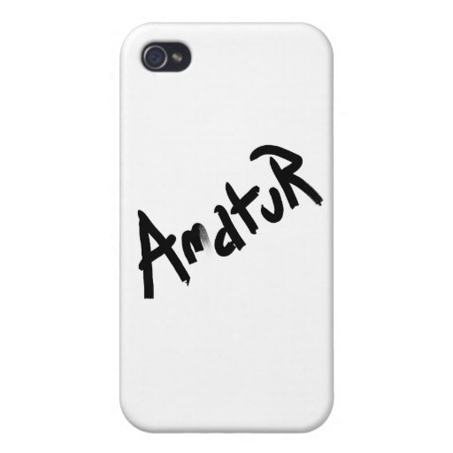 A is for AMATEUR: Designs from the I Am A ..Shop. iPhone 4 Cover