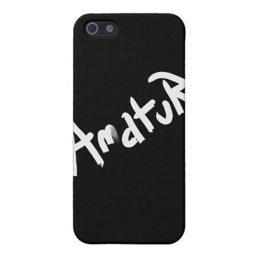 A is for AMATEUR: Designs from the I Am A ..Shop. Cases For iPhone 5