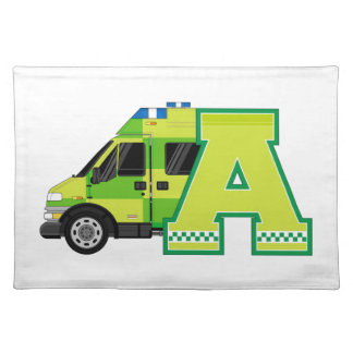 A is for Ambulance Placemat