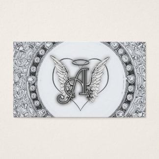 A is for Angel Initial with Heart Monogram