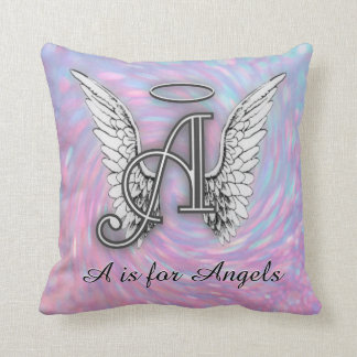 A is for Angels Throw Pillow