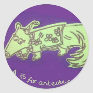 A is for Anteater Stickers