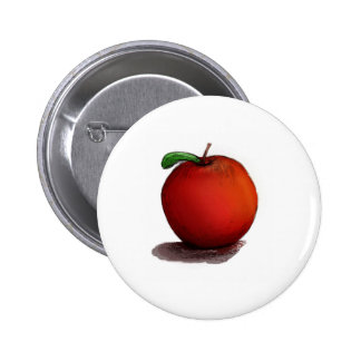 A is for Apple 6 Cm Round Badge