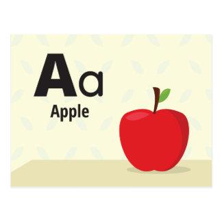 "A is for Apple - Alphabet Flash Card - 5.5 x 4.25"""