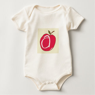 A is for Apple Baby Bodysuit