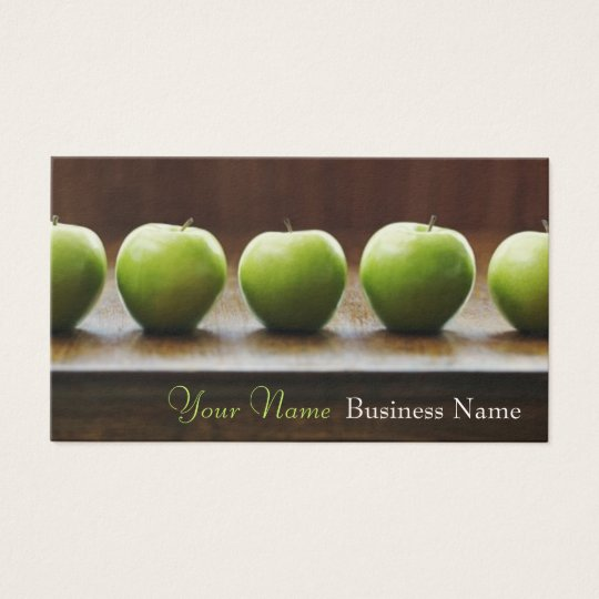 A is for Apple Business Cards