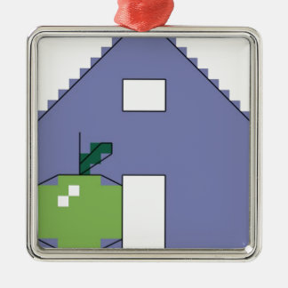 A is for apple christmas ornament