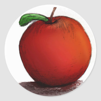 A is for Apple Classic Round Sticker