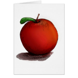 A is for Apple Greeting Card