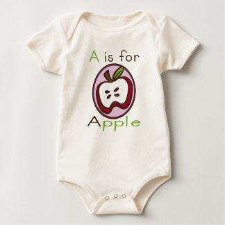 A is for Apple Organic Baby Baby Bodysuit