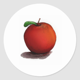A is for Apple Round Sticker