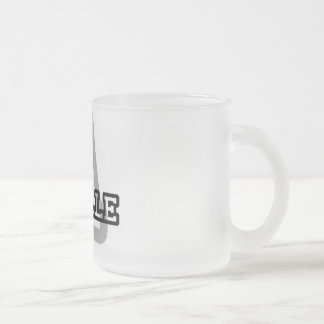 A is for Arielle Frosted Glass Coffee Mug
