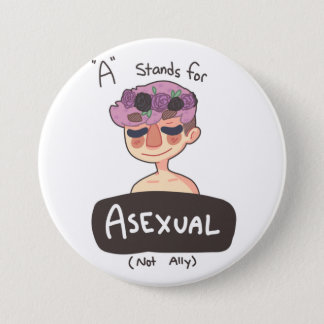 A is for Asexual Button