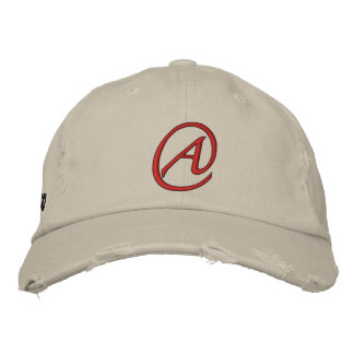 A is for Atheist Embroidered Cap