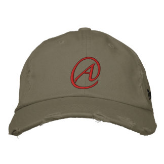 """A"" Is for Atheist Embroidered Hat"