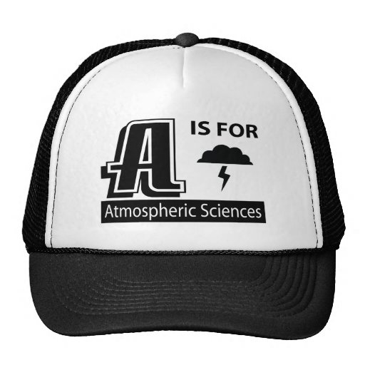 A Is For Atmospheric Sciences Mesh Hats