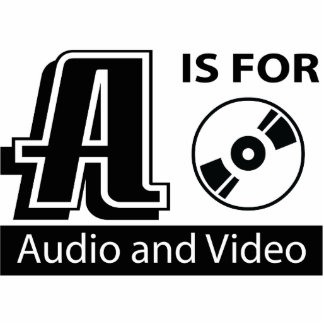 A Is For Audio and Video Photo Sculpture Decoration