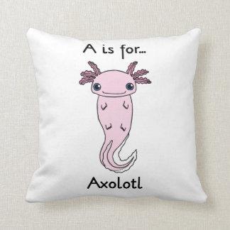 A is for Axolotl Pillow
