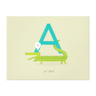 A is for... canvas prints
