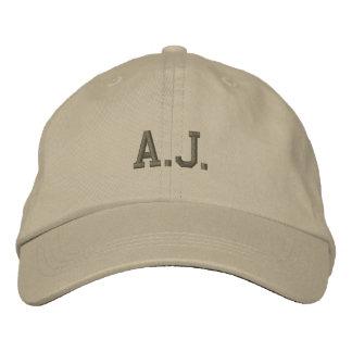 A.J.  Name Embroidered Baseball Cap / Hat