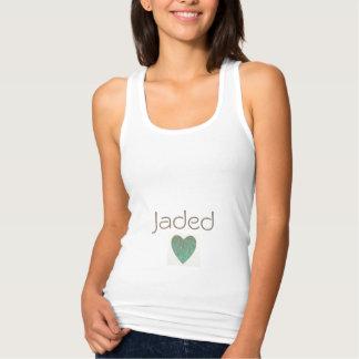 """A Jaded_Text_Heart *""_Slim-Fit-Woman's-Tank-Top"" Tank Top"