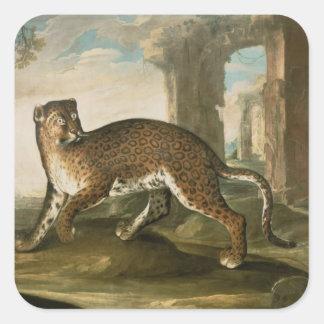 A Jaguar Square Sticker