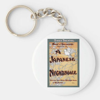 A Japanese Nightingale by Onoto Watanna 1903 Basic Round Button Key Ring