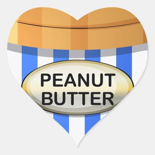 A jar of peanut butter heart sticker