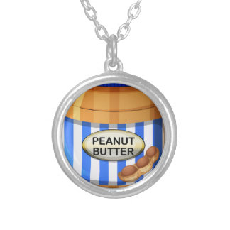 A jar of peanut butter round pendant necklace