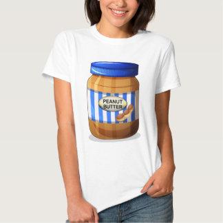 A jar of peanut butter t-shirts