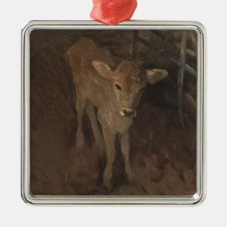 A Jersey Calf Christmas Ornament