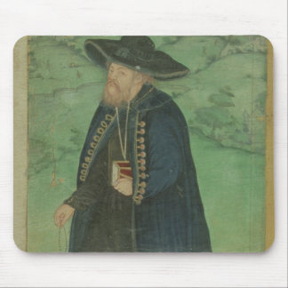 A Jesuit priest, inscribed in Persian: 'Jahangir S Mouse Pad
