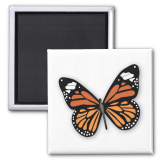 A Jeweled Monarch Butterfly Square Magnet