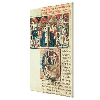A Jewish scholar presenting Canvas Print