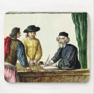 A Jewish Shopkeeper With Two Clients Mousepads